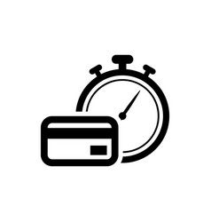 Black fast payments icon isolated fast money vector