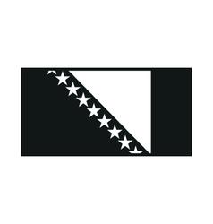 Bosnia and Herzegovina Flag on white background vector