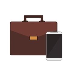 Briefcase and cellphone icon vector