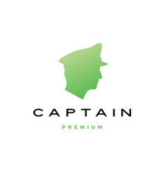 captain head logo icon vector image