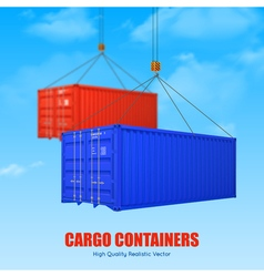 Cargo Container Poster vector image