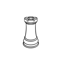 Chess figure hand drawn sketch icon vector