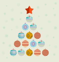 Christmas tree consists of balls vector
