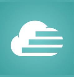 cloud line stripe logo vector image