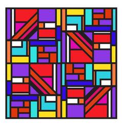 Colorful trendy geometric elements memphis poster vector