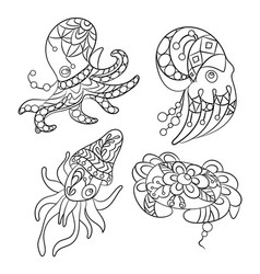 coloring pages in graphic for vector image
