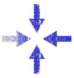 Compress arrows grunge textured icon vector