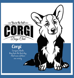 Corgi - for t-shirt logo and vector