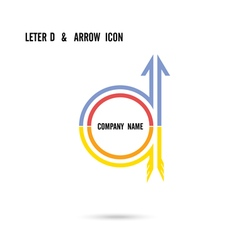 Creative letter D icon logo design vector image