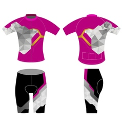 Cycling vest low poly scene vector image