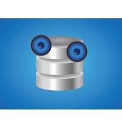 database cartoon mascot with two big eyes vector image