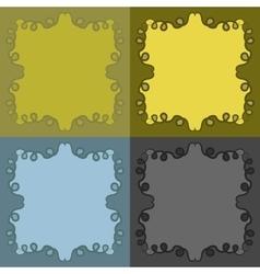 Decorative calligraphic frames set vector