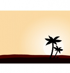 desert sunrise vector image