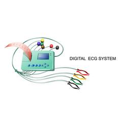 Digital ecg system vector