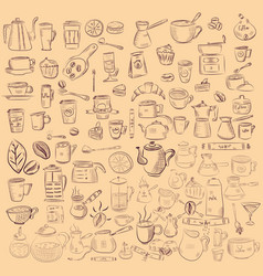 Doodle hand drawn pattern sketches isolated on vector