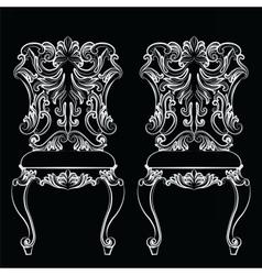 Fabulous Rich Baroque Rococo chair vector