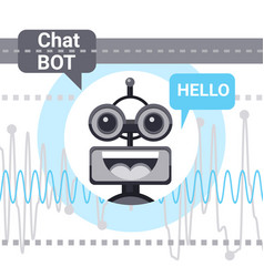 Free chat bot says hello robot virtual assistance vector