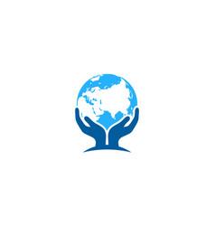 global care logo icon design vector image