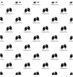 Goalkeeper gloves pattern seamless vector