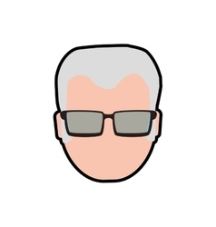 Grandfather male man hair grey icon vector image
