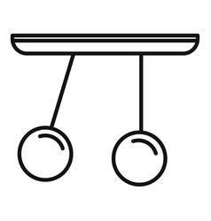 Gravity sphere stand icon outline style vector