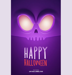halloween party design template with scary vector image