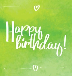 Happy Birthday Script green vector