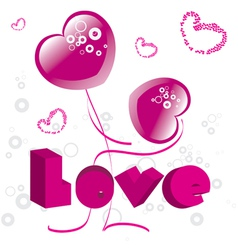 hearts valentines day vector image