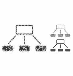 hierarchy composition icon uneven pieces vector image