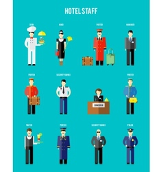 hotel staff vector image