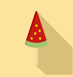 Ice cream watermelon icon flat style vector