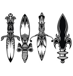 icon set of ancient swords vector image