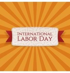 International Labor Day decorative Banner vector image