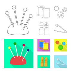 isolated object of craft and handcraft logo vector image