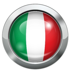 Italy flag metal button vector