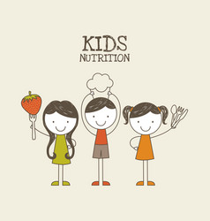 kids nutrition design vector image