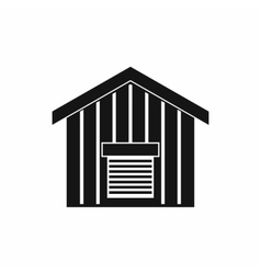 Large barn icon simple style vector image