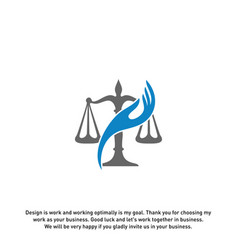 Law care logo design template law firm logo vector