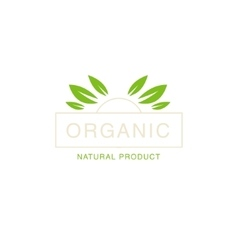 Leaf Crown Organic Product Logo vector