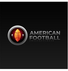 logo american football gradient colorful style vector image