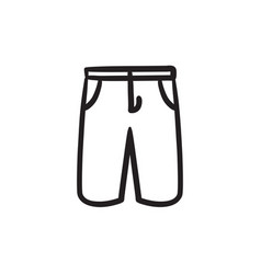 Male shorts sketch icon vector