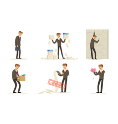 manager character work failures and losses debts vector image