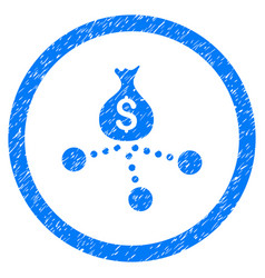 Money distribution rounded grainy icon vector