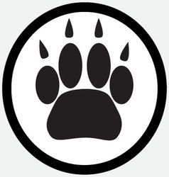 Monochrome icon foot print animal vector