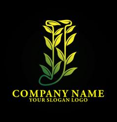 nature letter j vector image