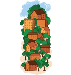 old town vector image