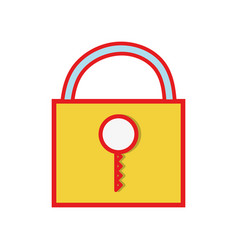 padlock close element to protection the vector image