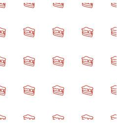 piece cake icon pattern seamless white vector image