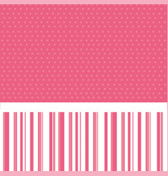 pink decorative frame with pattern dotted and vector image