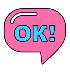 Pink ok sign vector